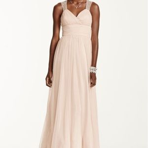 Open Back Beaded Strap Gown